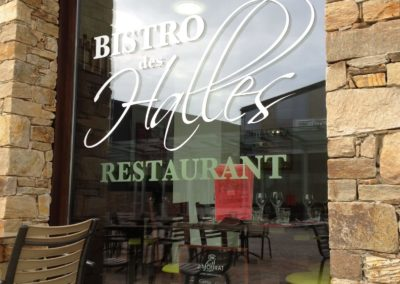 images et solutions - habillage vitrine bistro